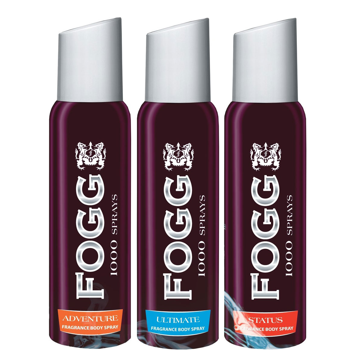 Fogg 1000 Adventure, Status, Ultimate Pack of 3 Deodorants