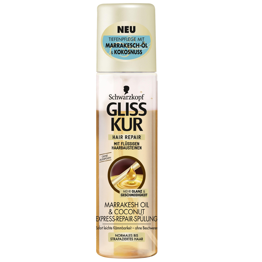 Schwarzkopf Gliss Marrakesh Oil and Coconut Express Repair Spray On Conditioner