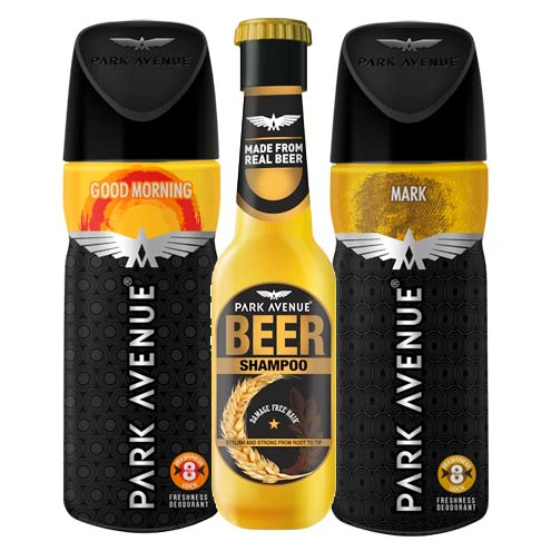 Park Avenue Beer Shampoo, Zion, Good Morning Deodorants Pack of 3 Products