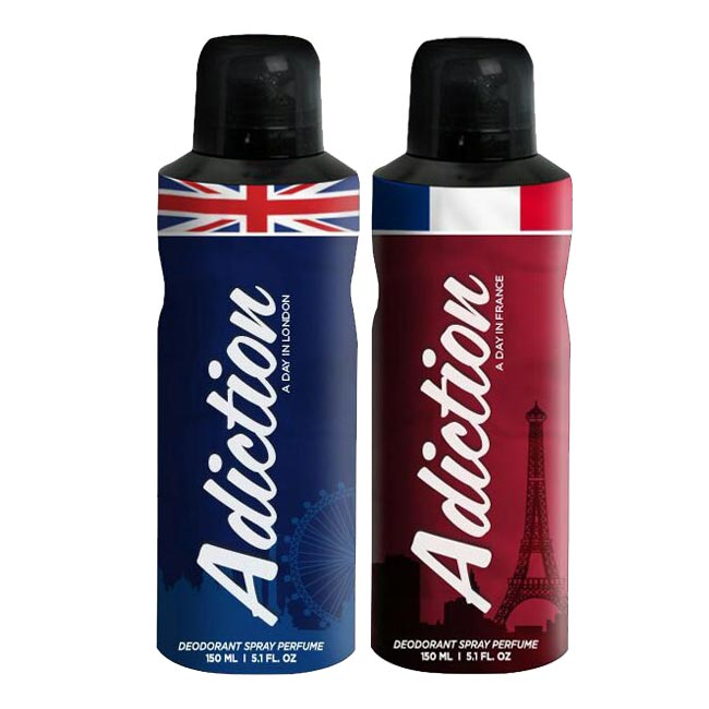 Adiction A Day In France, London Pack of 2 Deodorants