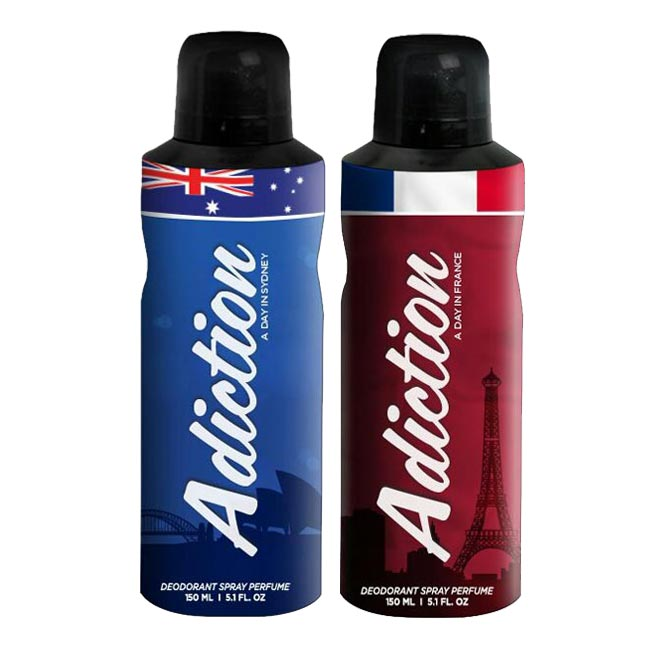 Adiction A Day In Sydney, France Pack of 2 Deodorants