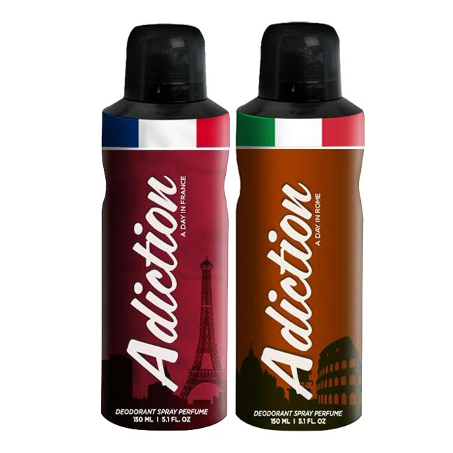 Adiction A Day In France, Rome Pack of 2 Deodorants