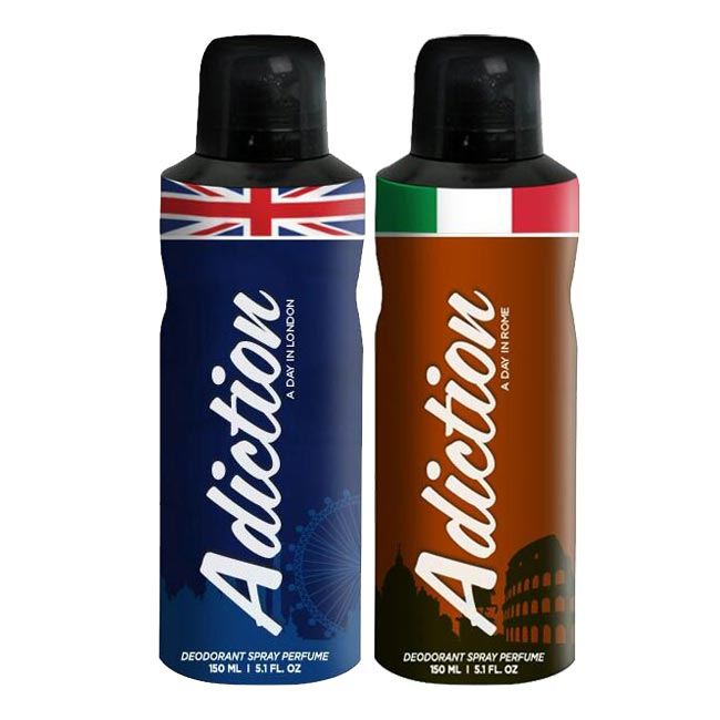 Adiction A Day In London, Rome Pack of 2 Deodorants