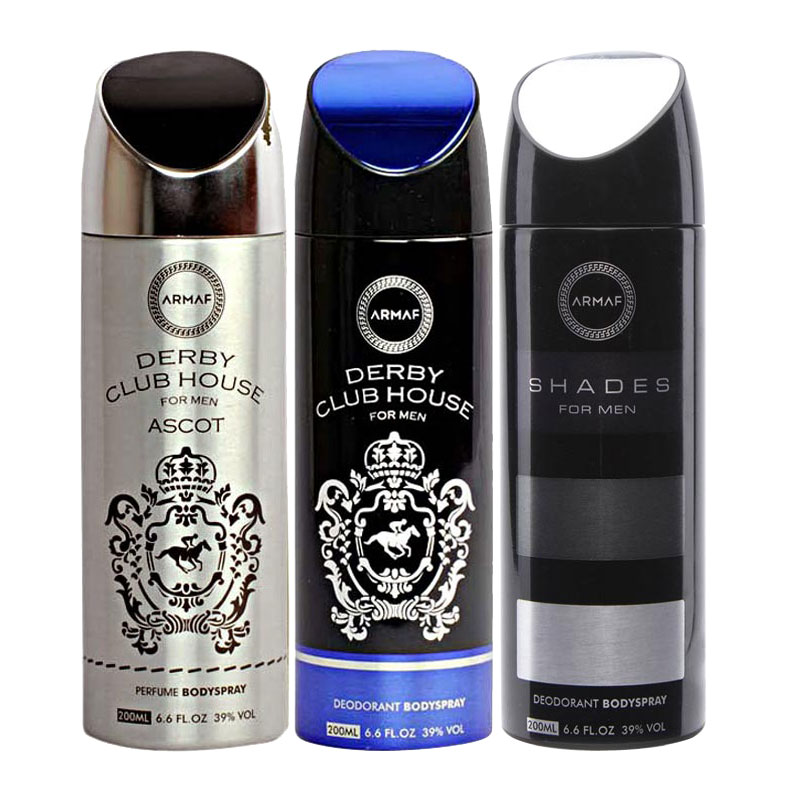 Armaf Derby Club House Ascot, Derby Club House, Shades Pack of 3 Deodorants