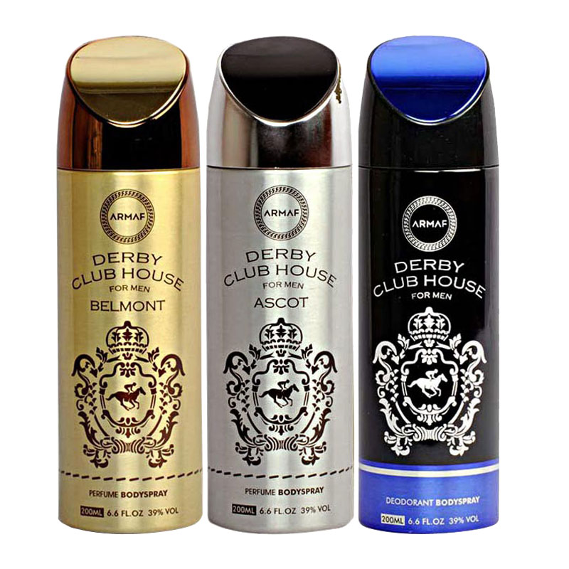 Armaf Derby Club House Belmont, Derby Club House Ascot, Derby Club House Pack of 3 Deodorants