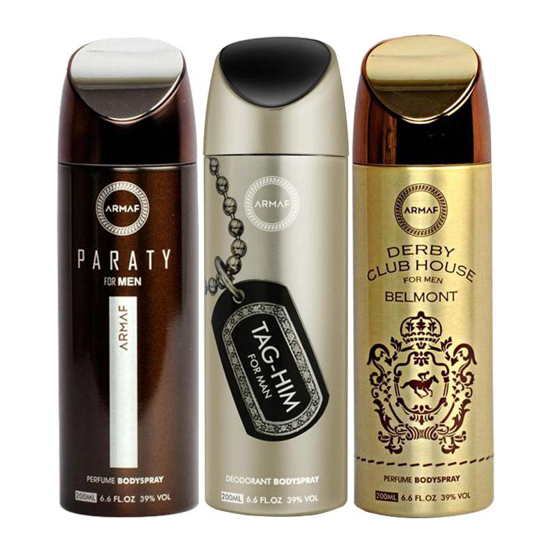 Armaf Paraty, Tag Him, Derby Club House Belmont Pack of 3 Deodorants