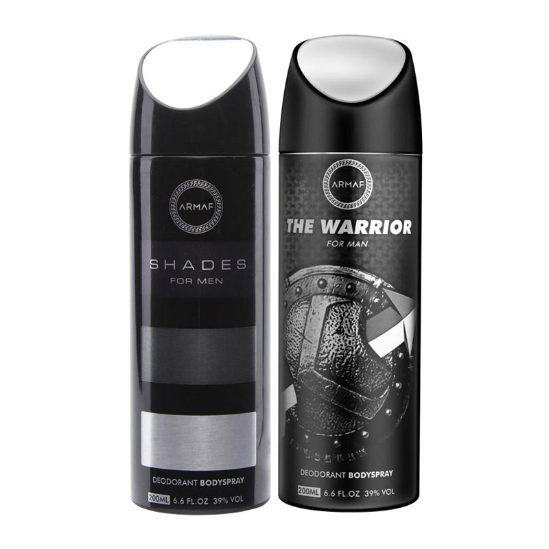 Armaf Shades, The Warrior Pack of 2 Deodorants