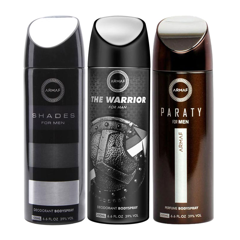 Armaf Shades, The Warrior, Paraty Pack of 3 Deodorants
