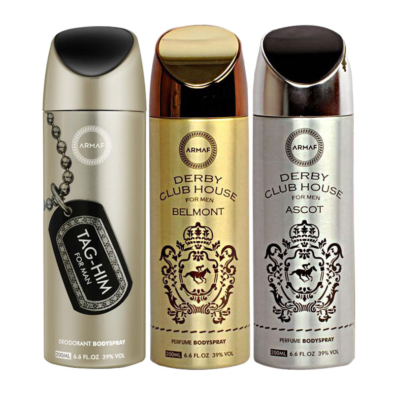 Armaf Tag Him, Derby Club House Belmont, Derby Club House Ascot Pack of 3 Deodorants