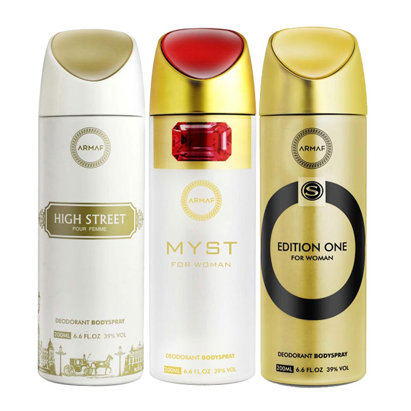 Armaf High Street, Myst, Edition One Pack of 3 Deodorants