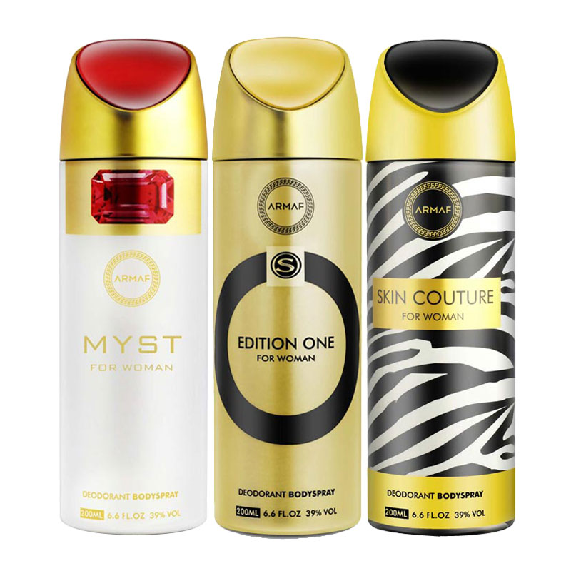 Armaf Myst, Edition One, Skin Couture Pack of 3 Deodorants