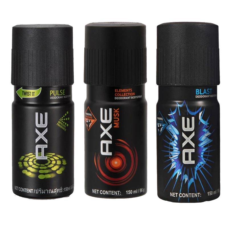 Axe Pulse, Musk, Blast Pack of 3 Deodorants