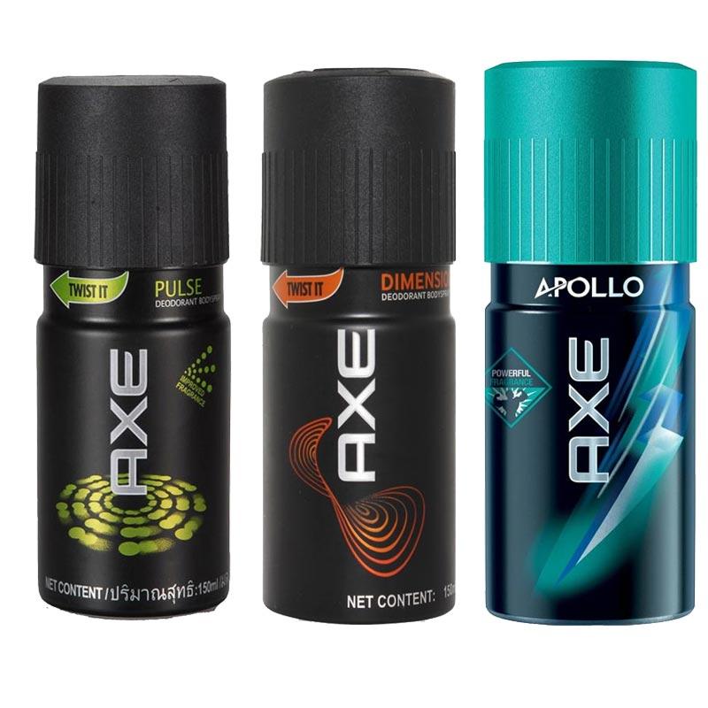 Axe Pulse, Dimension, Apollo Pack of 3 Deodorants