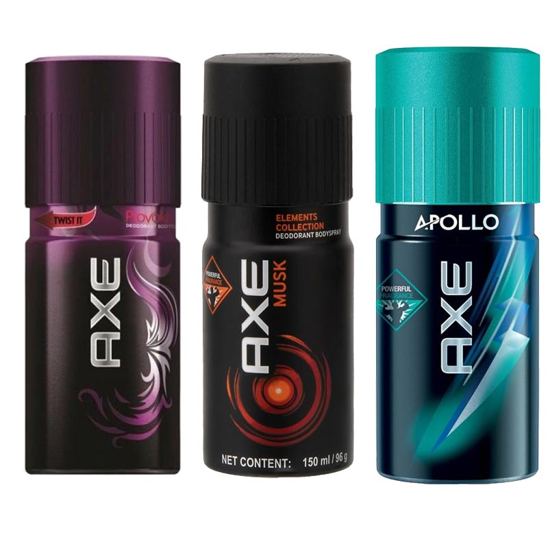 Axe Provoke, Musk, Apollo Pack of 3 Deodorants