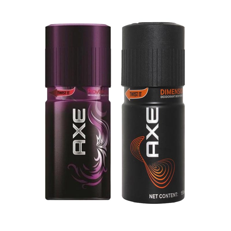 Axe Provoke, Dimension Pack of 2 Deodorants