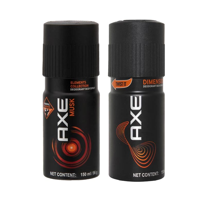 Axe Musk, Dimension Pack of 2 Deodorants