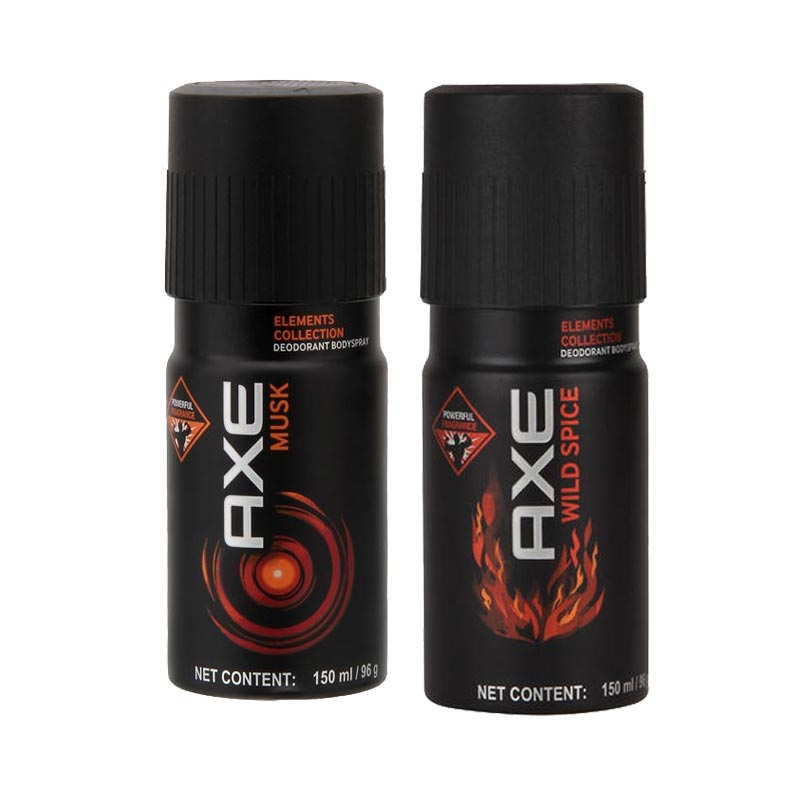 Axe Musk, Wild Spice Pack of 2 Deodorants