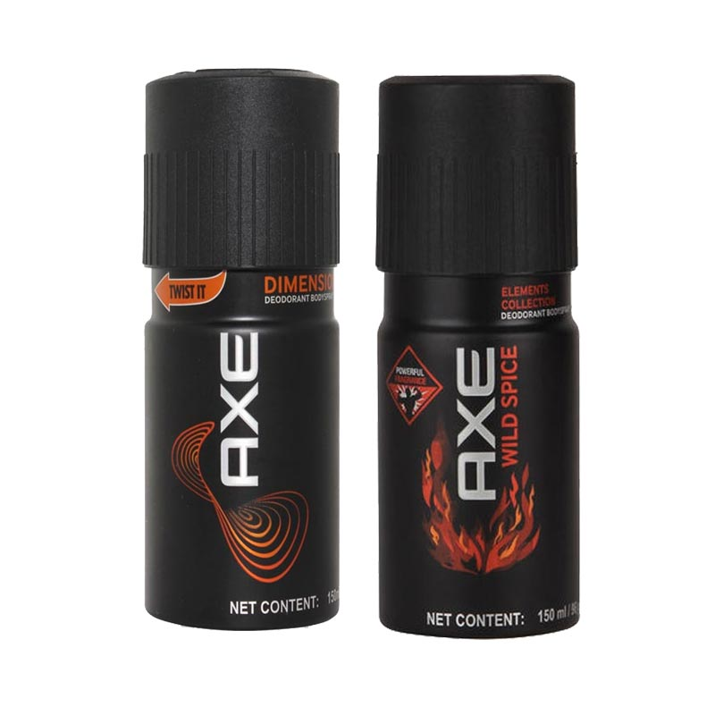 Axe Dimension, Wild Spice Pack of 2 Deodorants