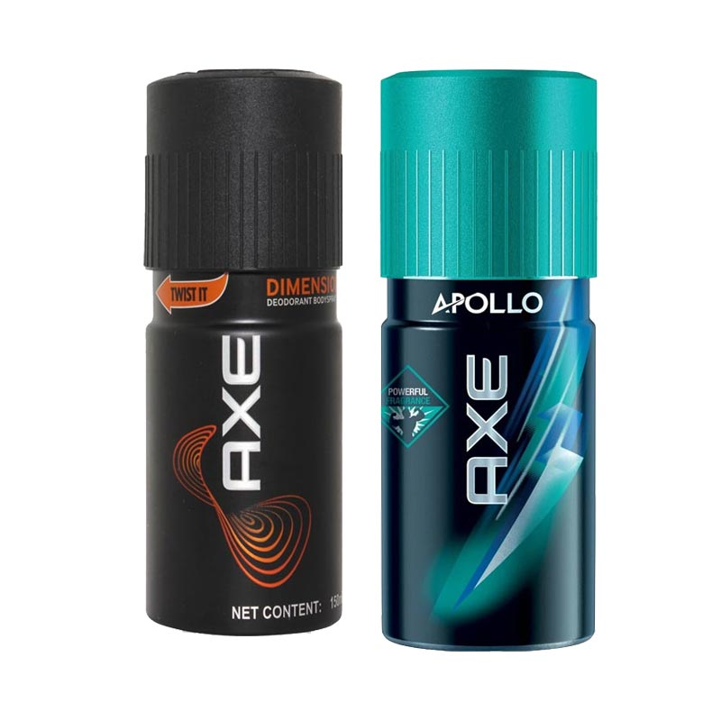 Axe Dimension, Apollo Pack of 2 Deodorants