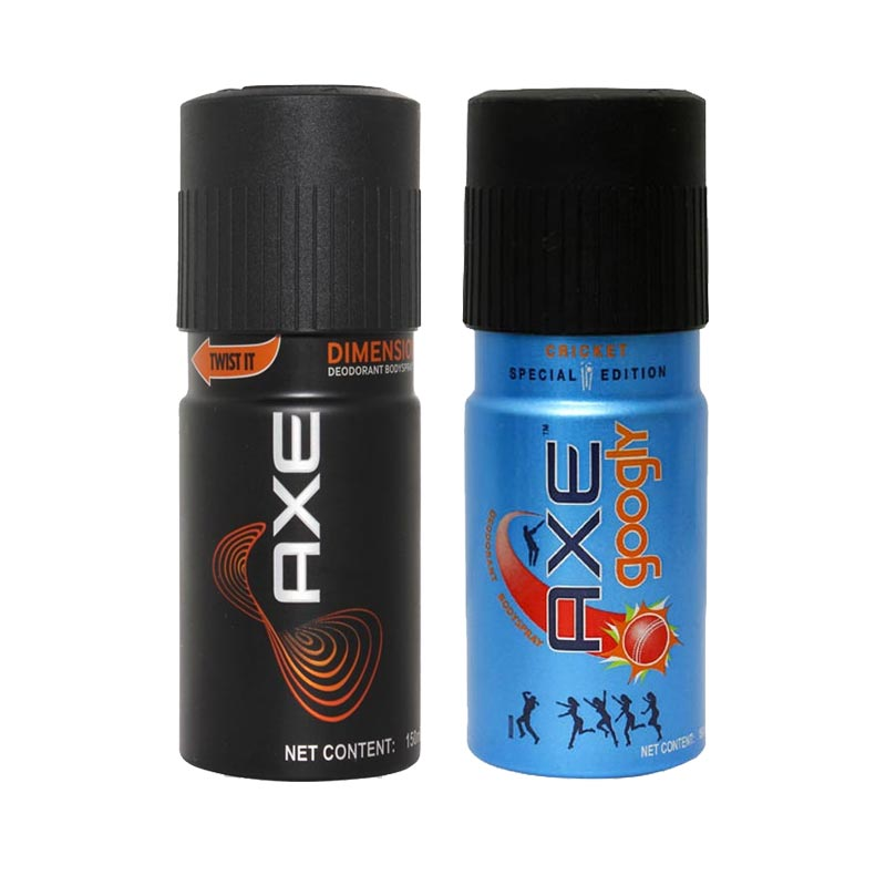 Axe Dimension, Googly Pack of 2 Deodorants