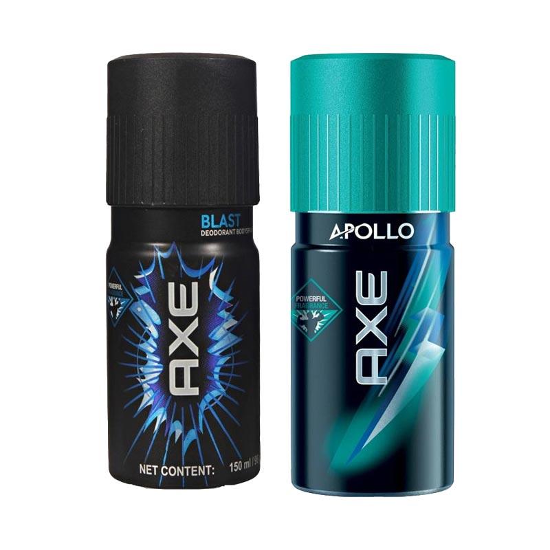 Axe Blast, Apollo Pack of 2 Deodorants