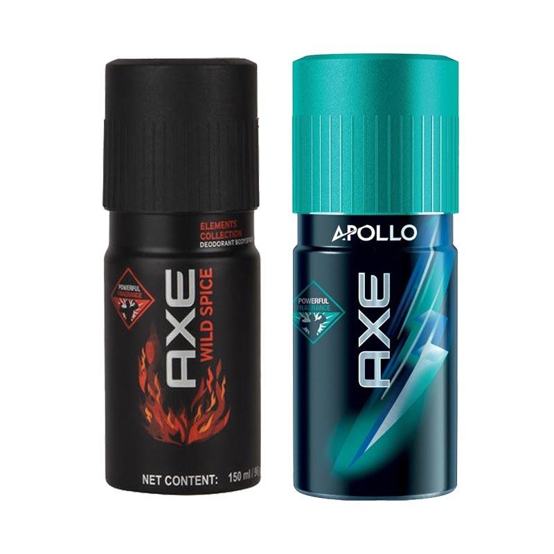 Axe Wild Spice, Apollo Pack of 2 Deodorants