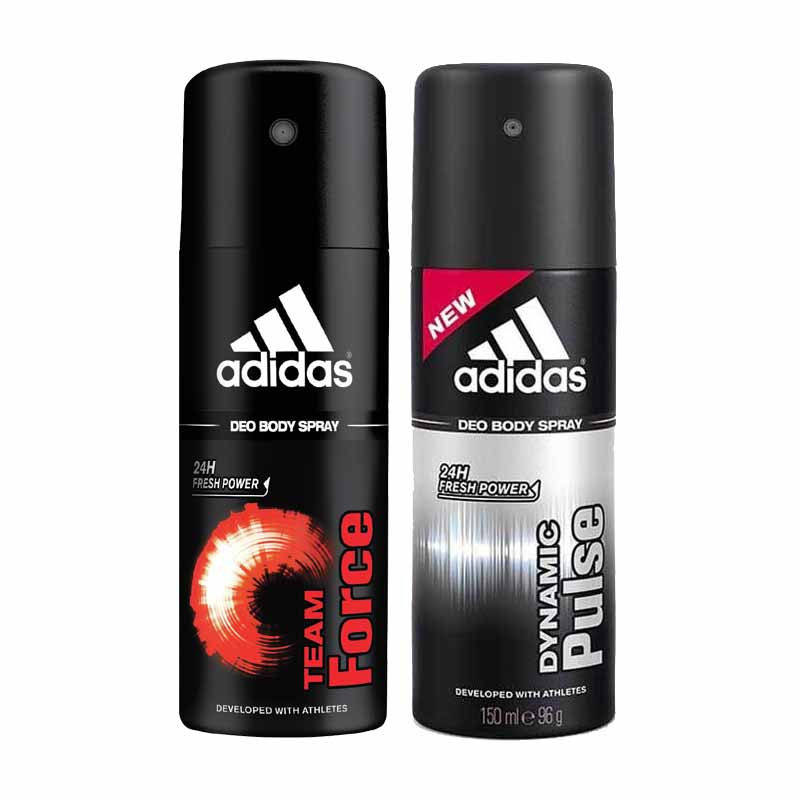 Adidas Dynamic Pulse And Team Force Pack Of 2 Deodorants