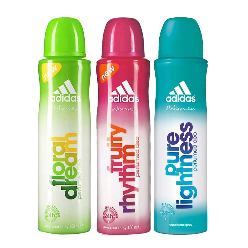 Adidas Floral Dream Fruity Rhythm Pure Lightness Pack of 3 Deodorants