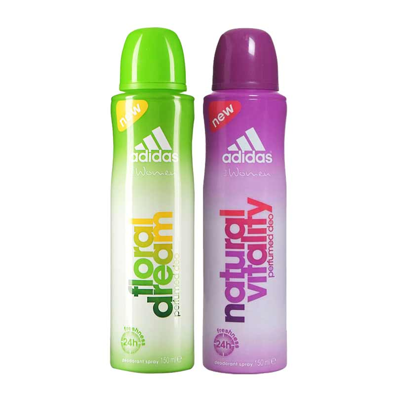 Adidas Floral Dream Natural Vitality Pack of 2 Deodorants