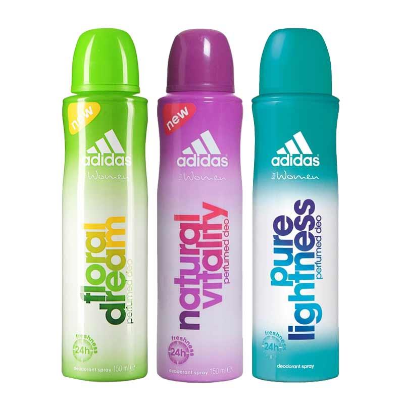 Adidas Floral Dream Natural Vitality Pure Lightness Pack of 3 Deodorants