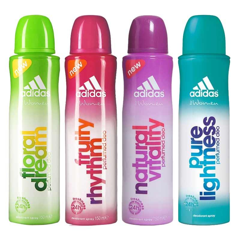 Adidas Fruity Rhytm Natural Vitality Pure Lightness Floral Dream Pack of 4 Deodorants