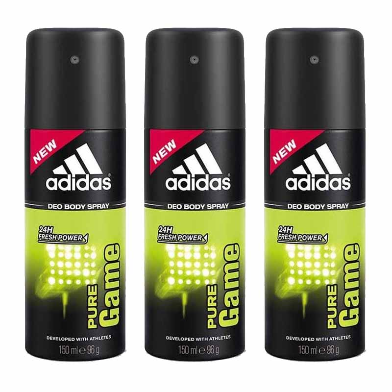 Adidas Pure Game Value Pack Of 3 Deodorants