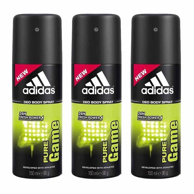 Adidas Pure Game Value Pack Of 3 Deodorants