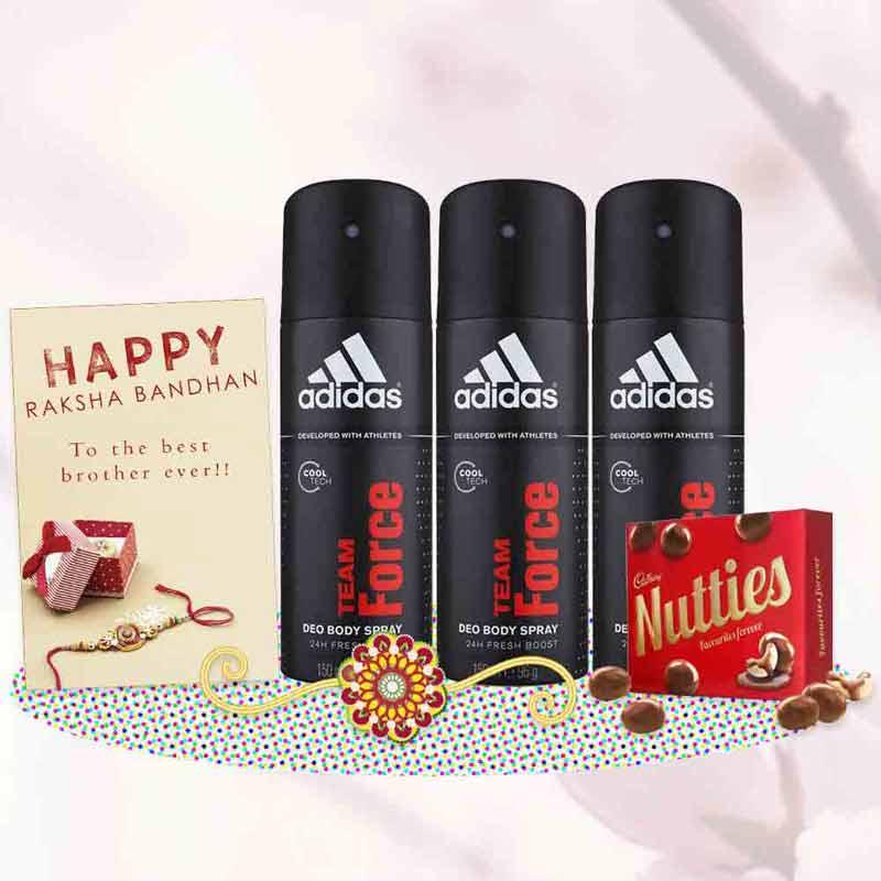 Adidas Team Force Deodorants Rakhi Gift Pack