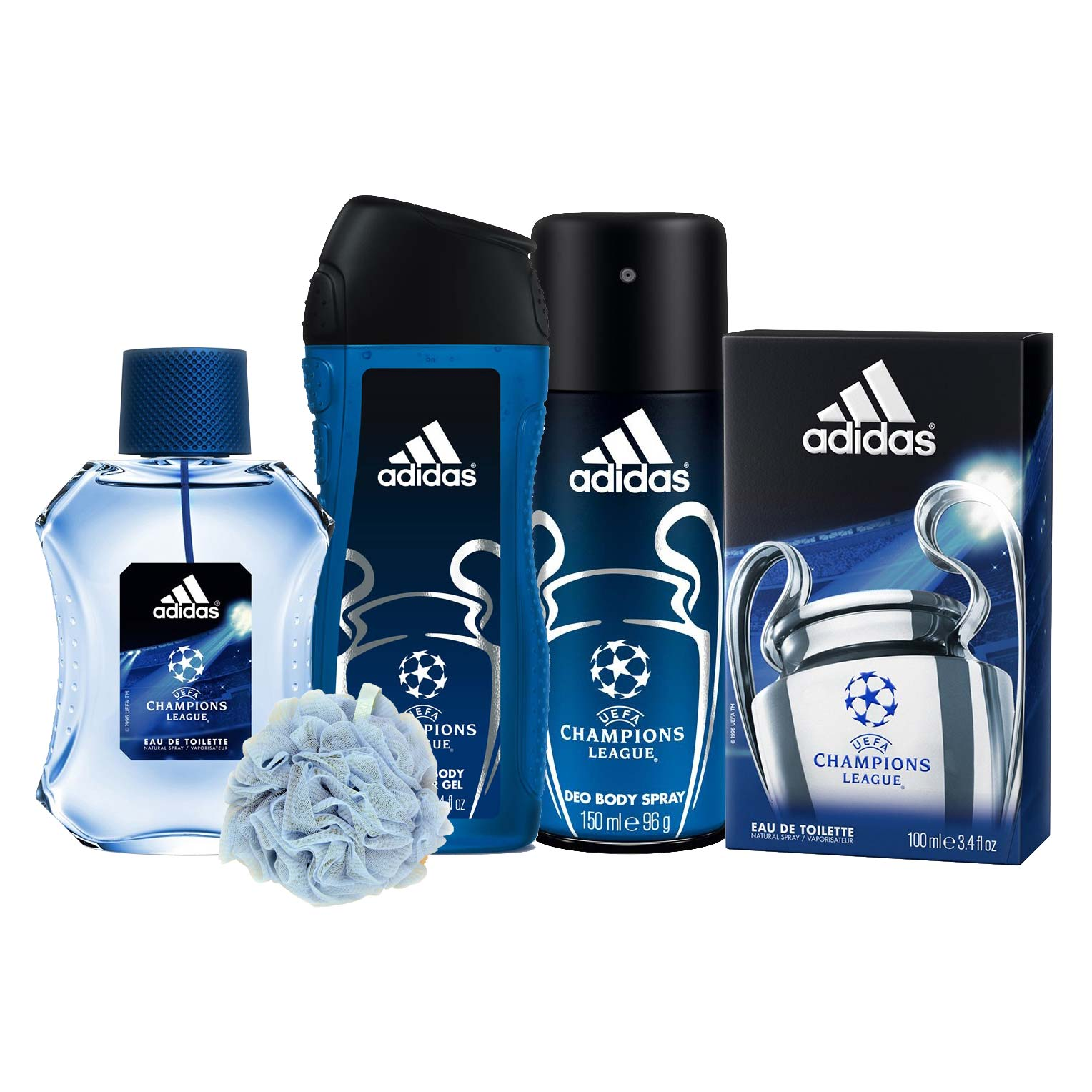 Tratamiento Listo seta  Buy Adidas UEFA Champions League Perfume; Deodorant; Shower Gel And Loofah  Combo Set for men online at lowest price @ DeoBazaar.com