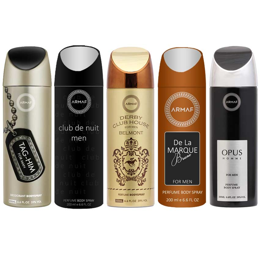 Armaf Derby Belmont, Opus, De La Marque Brune, Club De Nuit And Tag Him Pack Of 5 Deodorants