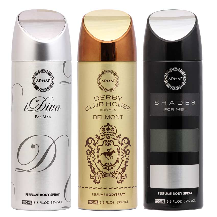 Armaf Derby Belmont, Shades And Idiva Pack Of 3 Deodorants