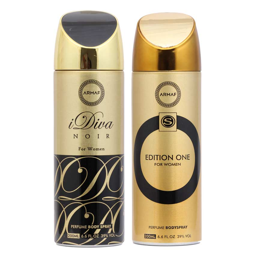 Armaf Idiva Noir And Edition One Pack Of 2 Deodorants