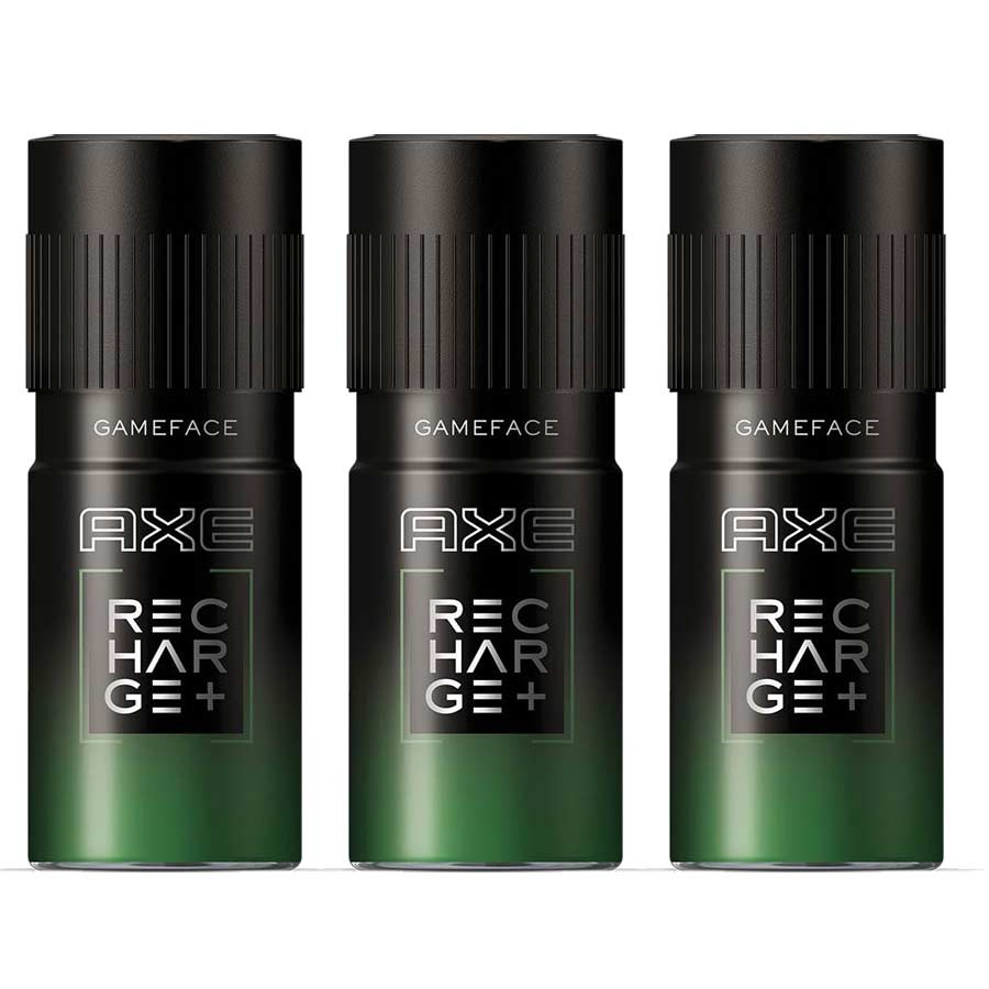 Axe Recharge Game Face Pack Of 3 Deodorants