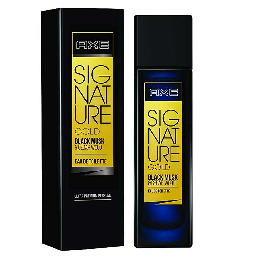 Axe Signature Gold Black Musk And Cedar Wood EDT Perfume
