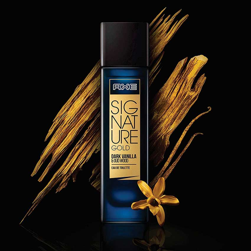 Axe Signature Gold Dark Vanilla And Oud Wood Edt Perfume 80ml For
