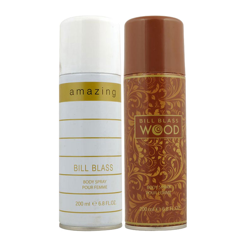 Bill Blass Amazing, Wood Pack of 2 Deodorants