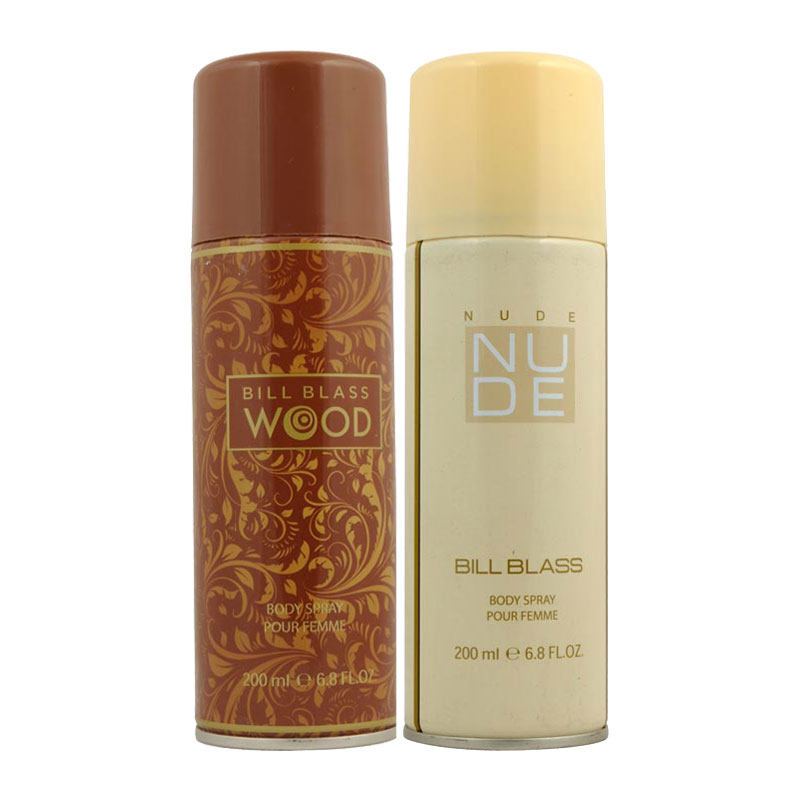 Bill Blass Wood, Nude Pack of 2 Deodorants