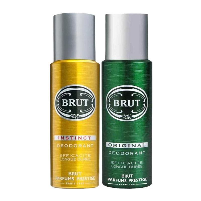 Brut Instinct, Original Pack of 2 Deodorants