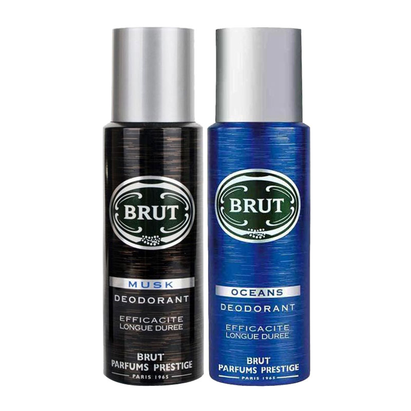 Brut Musk, Oceans Pack of 2 Deodorants