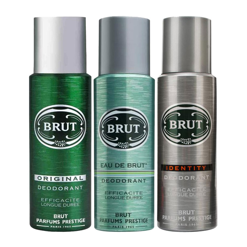 Brut Original, Eau De Brut, Identity Pack of 3 Deodorants