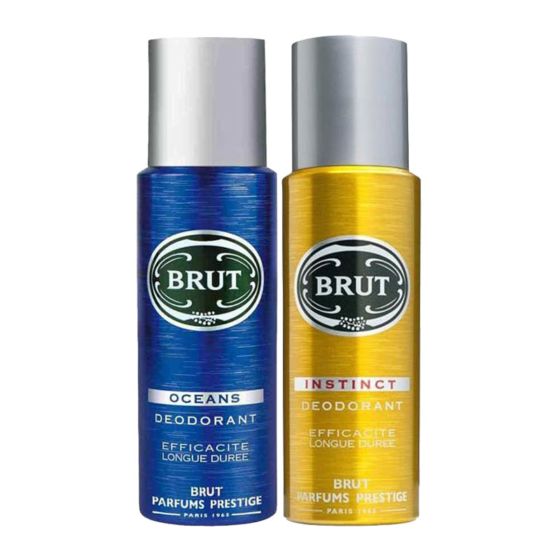 Brut Oceans, Instinct Pack of 2 Deodorants