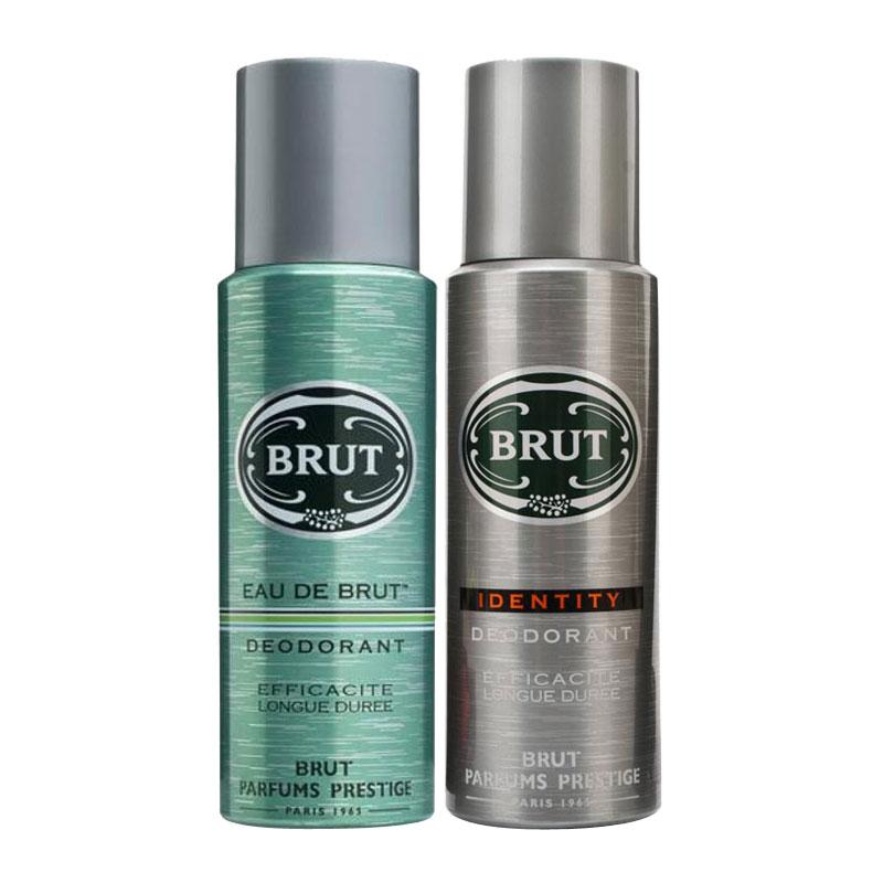 Brut Eau De Brut, Identity Pack of 2 Deodorants
