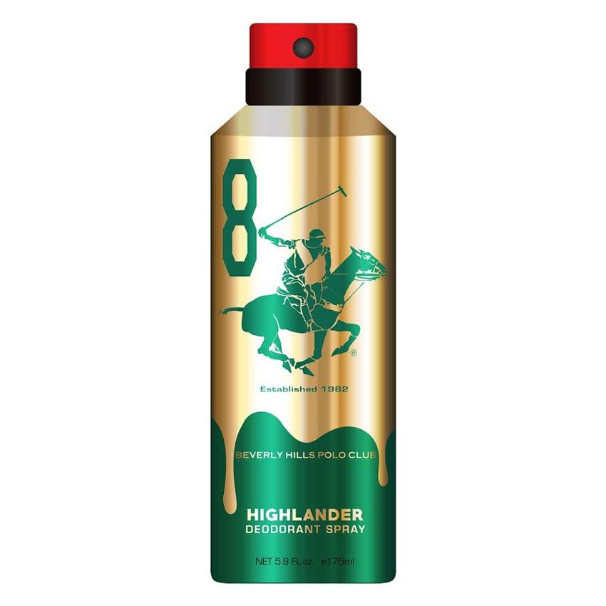 Beverly Hills Polo Club Highlander No 8 Gold Edition Deodorant