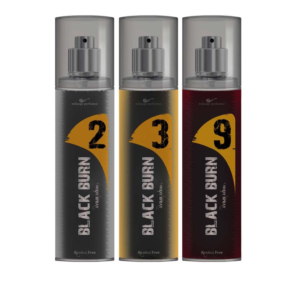 Black Burn 2,3,9 Set of 3 Alcohol Free Deodorants